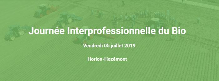 Journée Interprofessionnelle du Bio JIB 2019